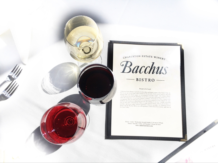 Bacchus Bistro at Chaberton estate winery