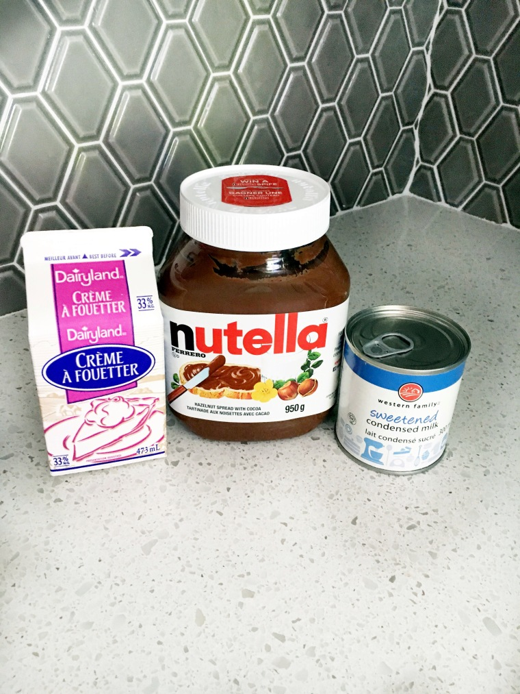 Nutella Ice Cream ingredients