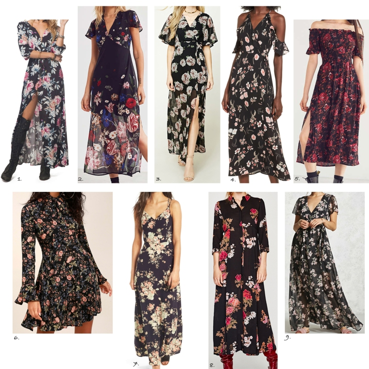 DarkFloralDresses