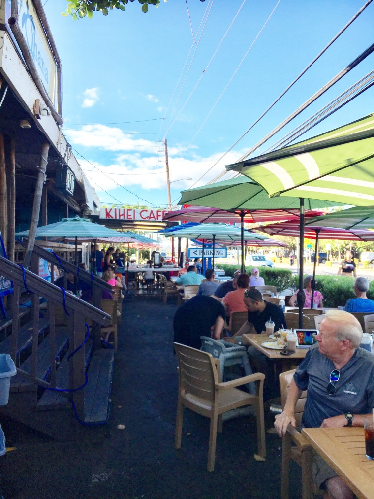 Roadside Patio at the Kihei Cafe