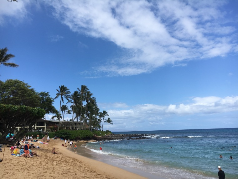 The beach at Napili Bay