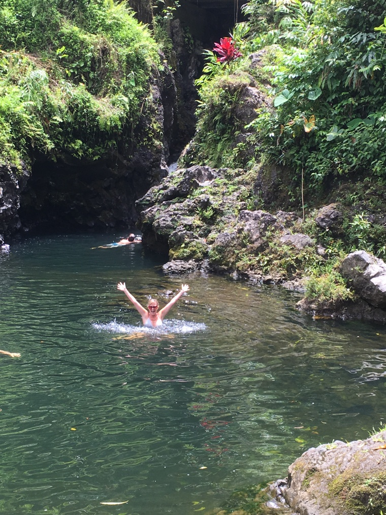 Swimming at Ching's Pond on the Road to Hana