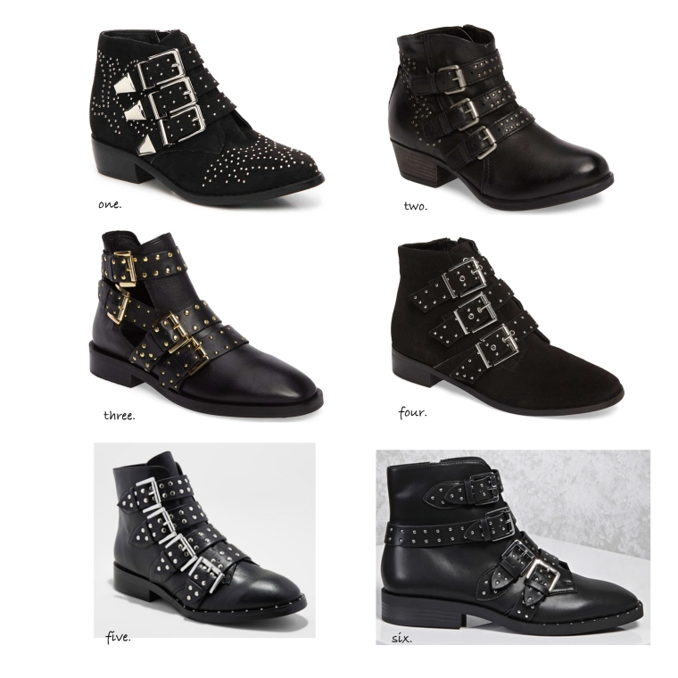 Studded Buckled Booties