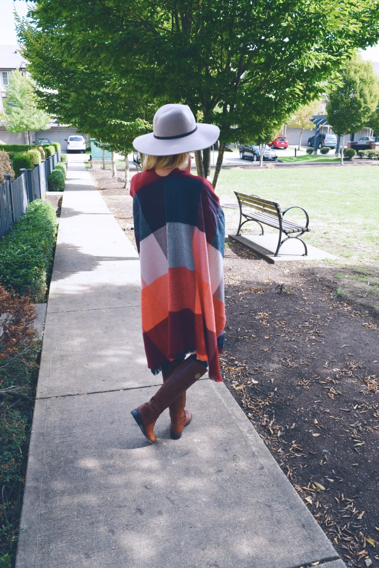 Fun Fall Plaid Poncho