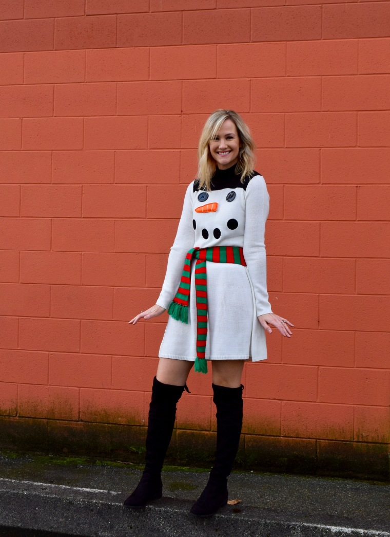 Snowman Sweater Dress