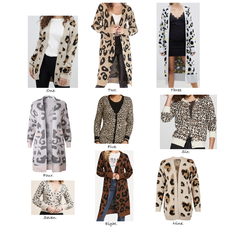 Leopard Cardigans